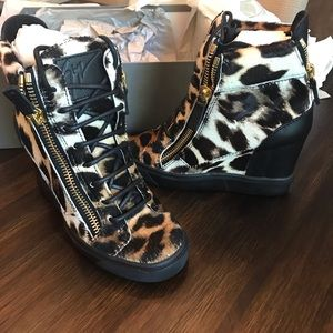Giuseppe Zanotti leopard sneaker wedges